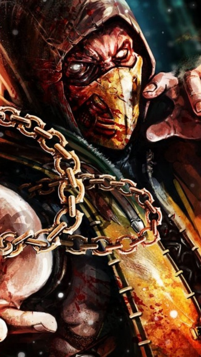 640x1136 Scorpion Mortal Kombat X Iphone 5 wallpaper 640x1136