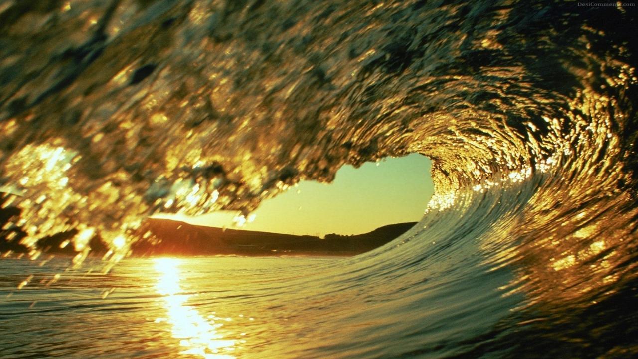 water waves glassy wave clark little HD 169 1280x720 1366x768 1280x720