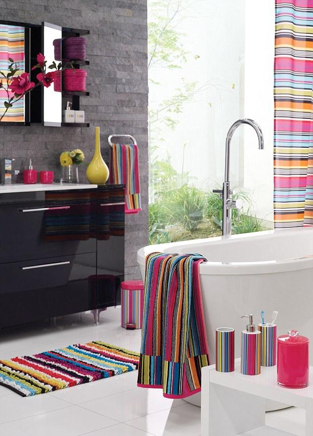 right stripes Towels from 7 bin 10 bath mat 14 bathroom 634x882