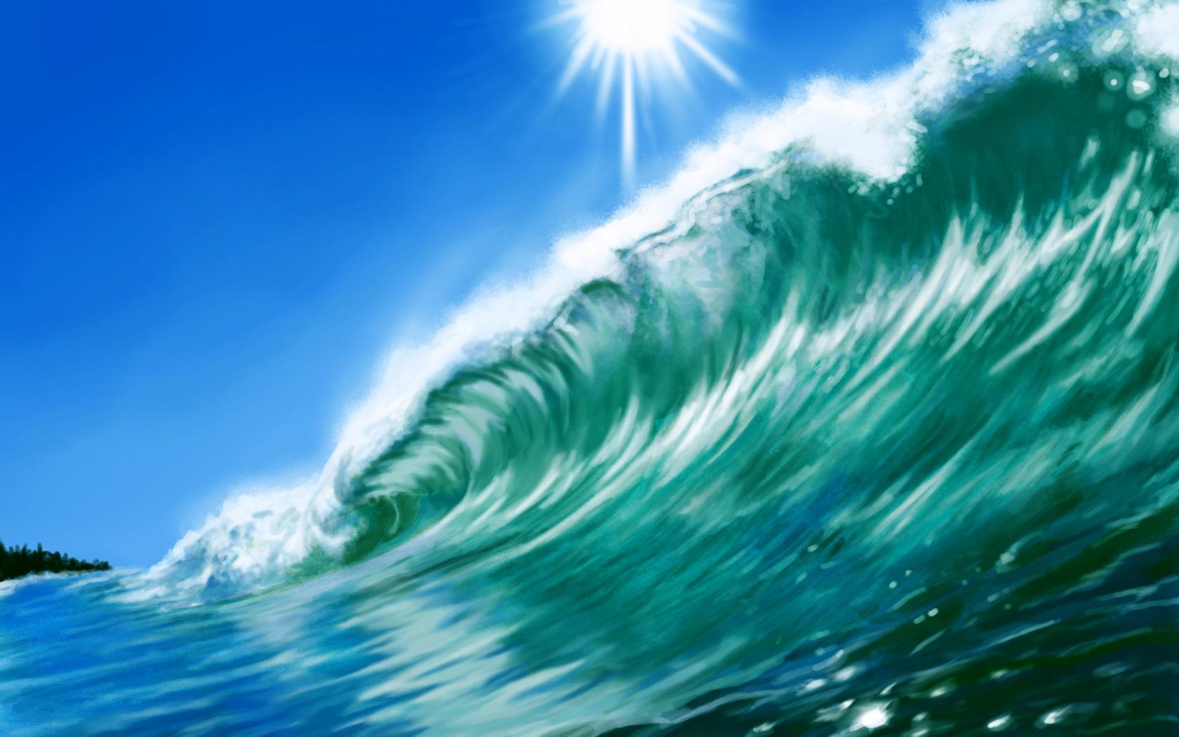 Waves Art Wallpaper wallpaper Waves Art Wallpaper hd wallpaper 1680x1050