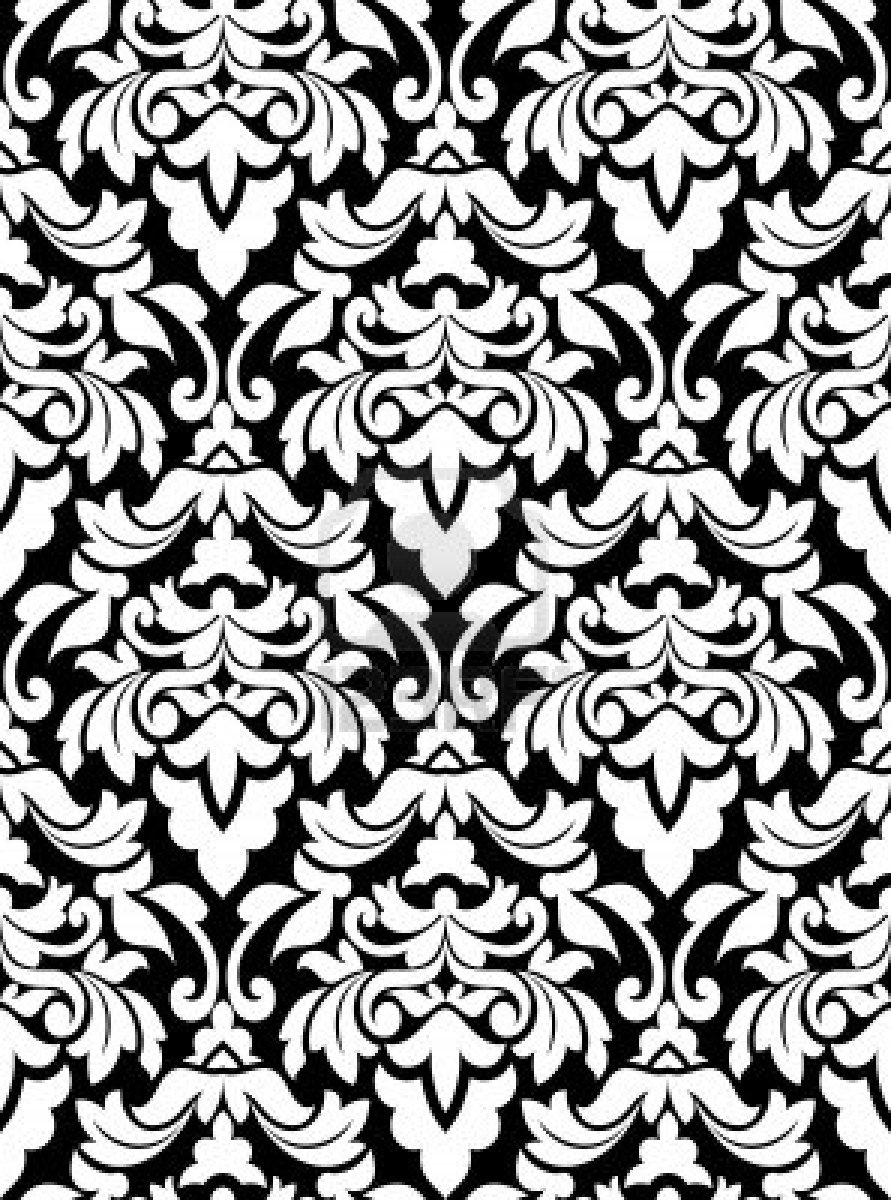 Black And White Damask 891x1200