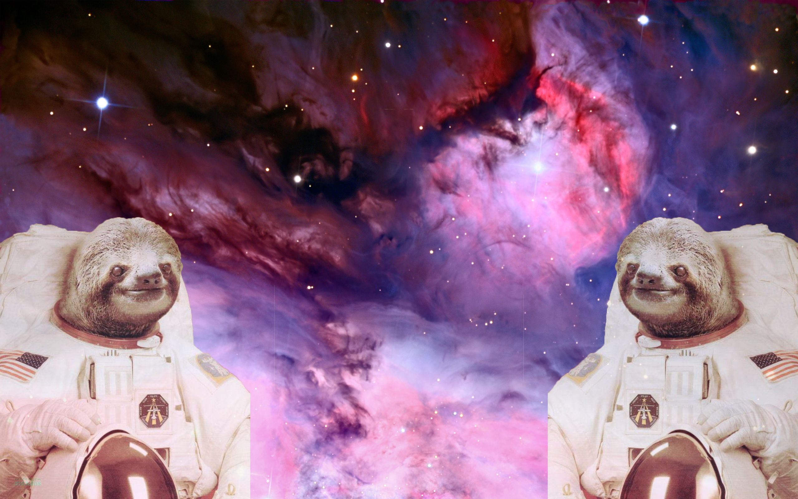 Astronaut Sloths in Space wallpaper I made wallpapers 2560x1600