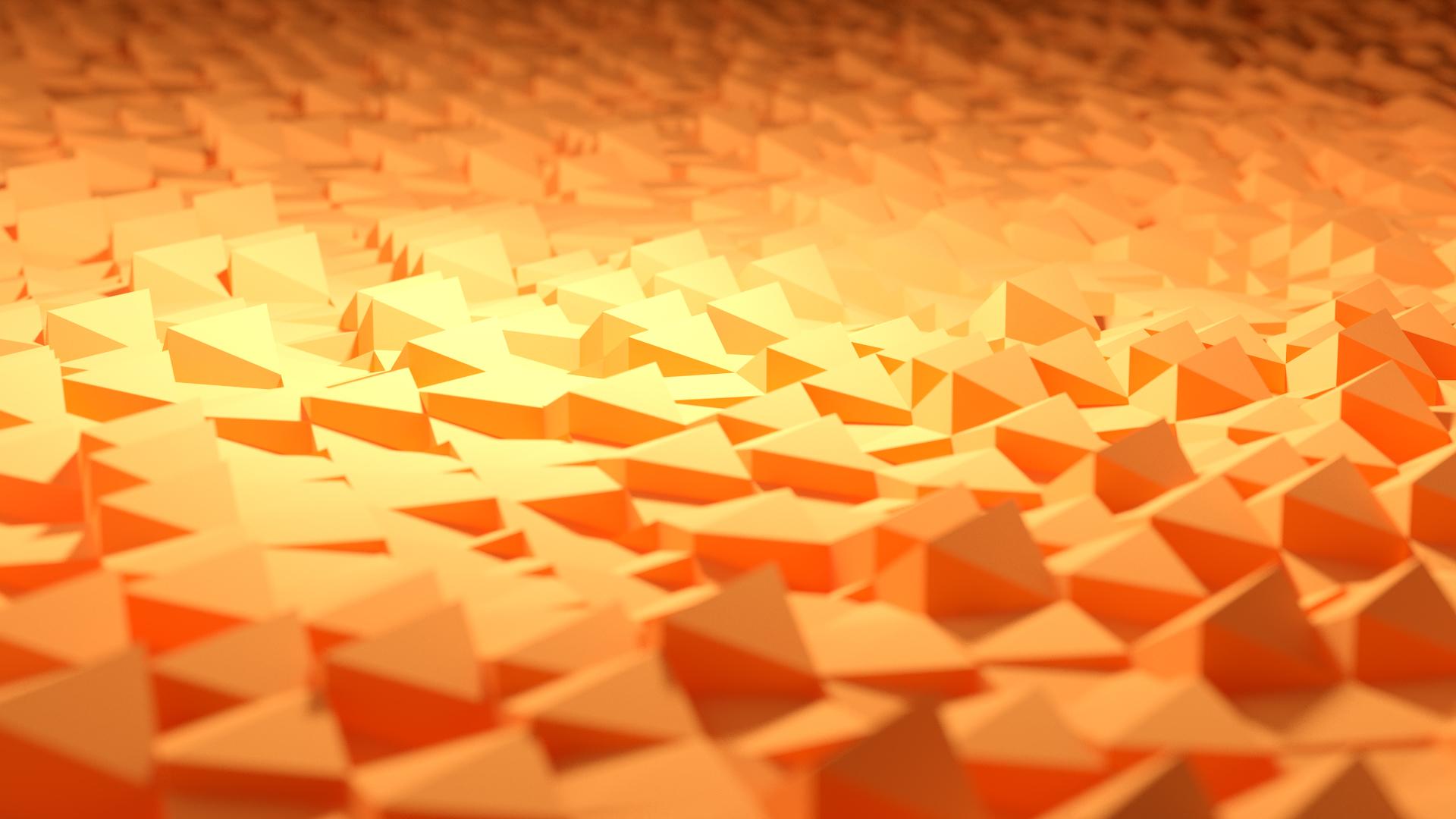 Orange Geometric Wallpaper - WallpaperSafari