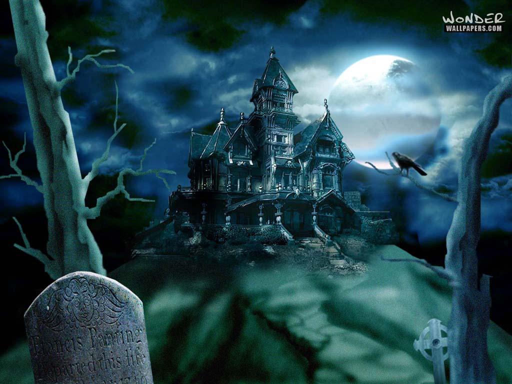 Haunted House   Halloween Wallpaper 250818 1024x768