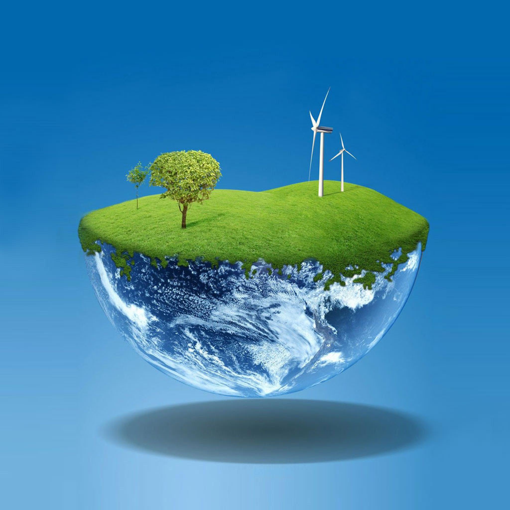Vector   Green Eco Earth   iPad iPhone HD Wallpaper 2048x2048