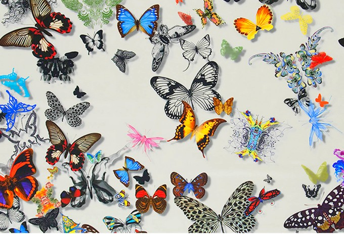 in this Christian Lacroix Butterfly Parade Fabric and Wallpaper ...