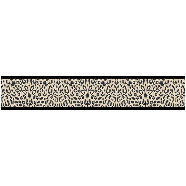 Animal Safari Ivory and Black Leopard Print Wallpaper Border 622x622