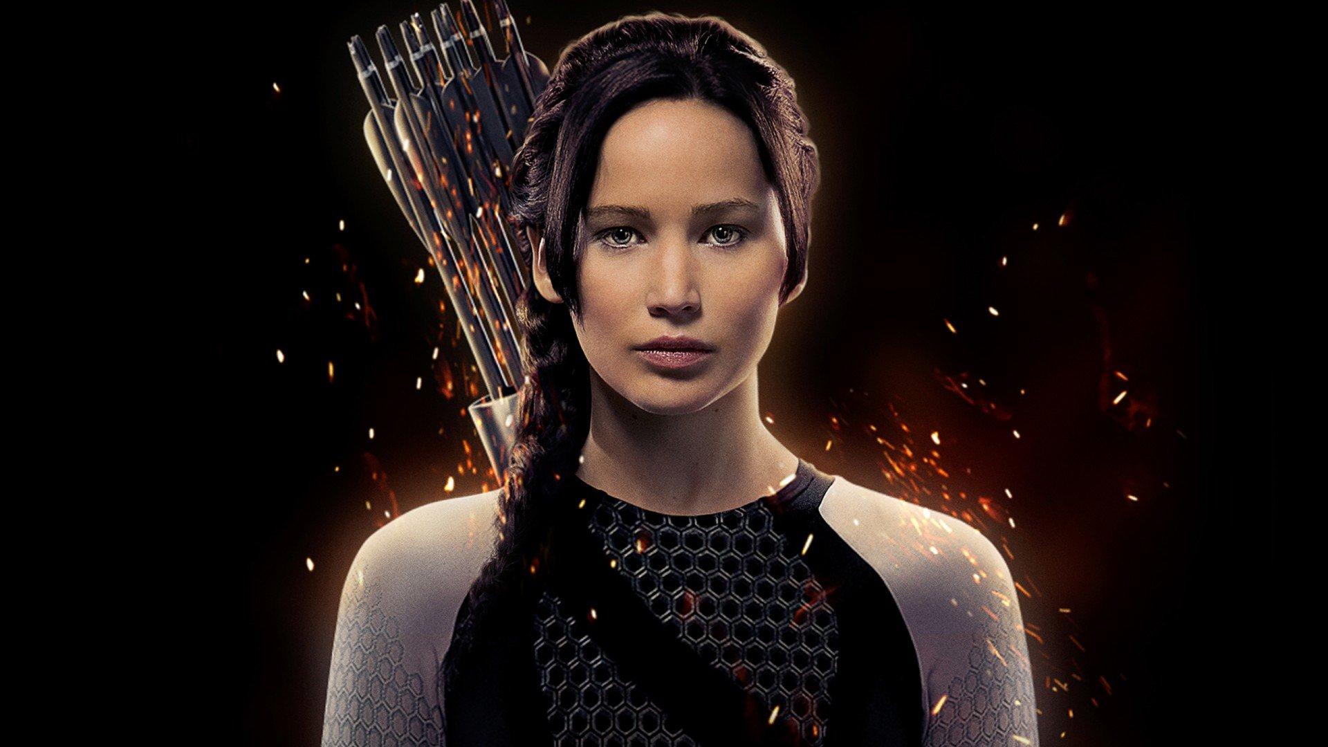 Jennifer Lawrence as Katniss Everdeen Hunger Games Wallpaper 1920x1080