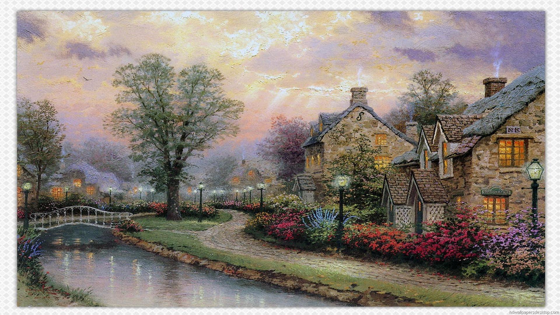 Thomas Kinkade Wallpaper And Screensavers Wallpapersafari