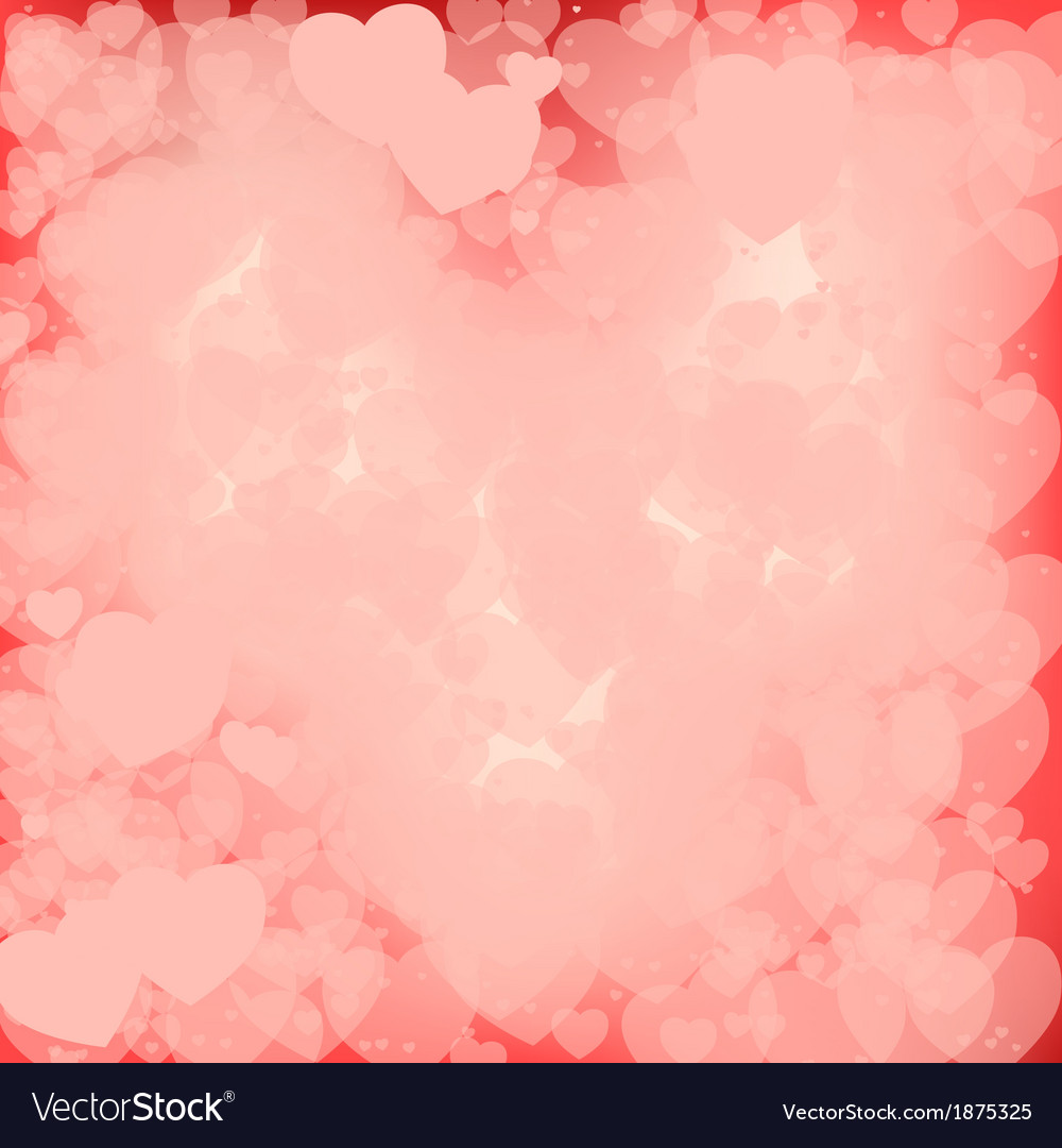 Pink Valentine Background Royalty Vector Image 1000x1080