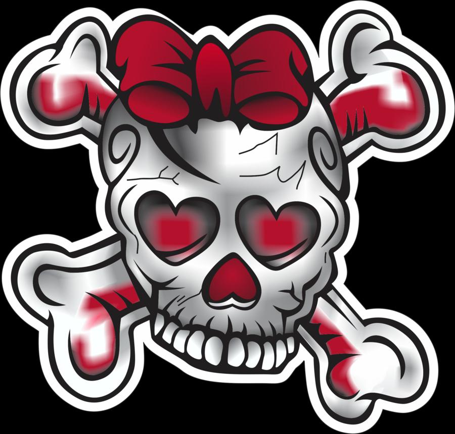 Vector Girl Skull   Shaded by EchoChance 900x860