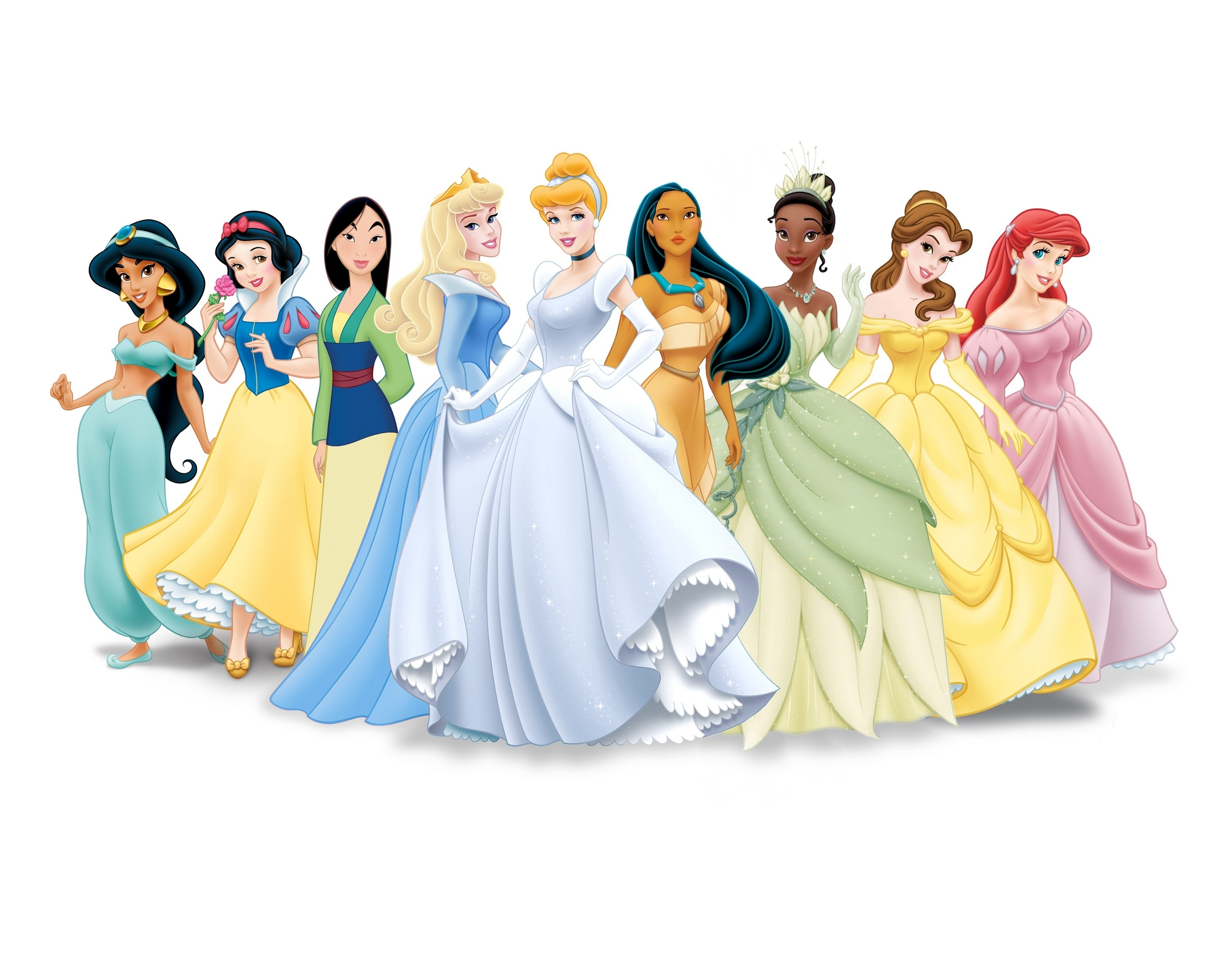 New Disney Princess Lineup movie version disney princess 10376587 2560 2560x1983