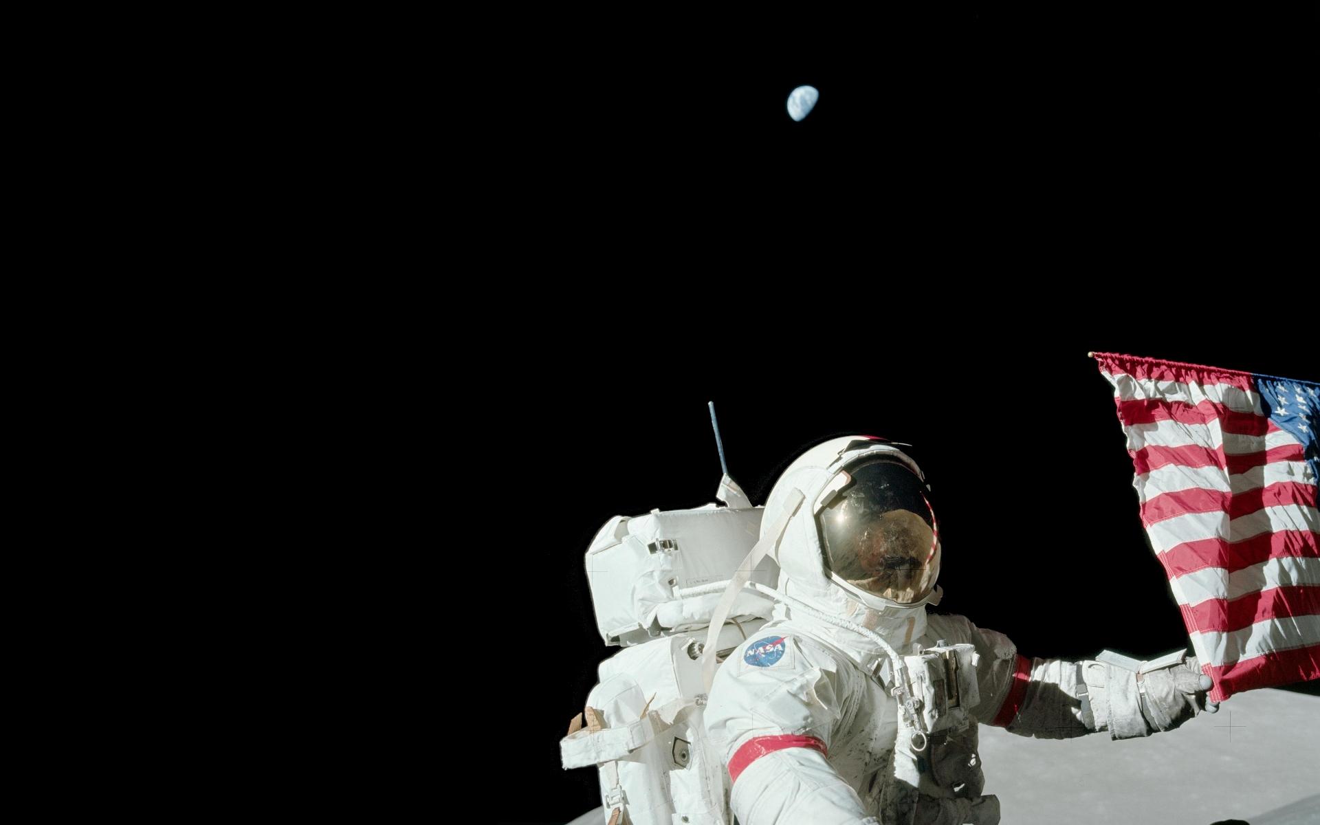 astronaut on moon wallpaper - photo #11