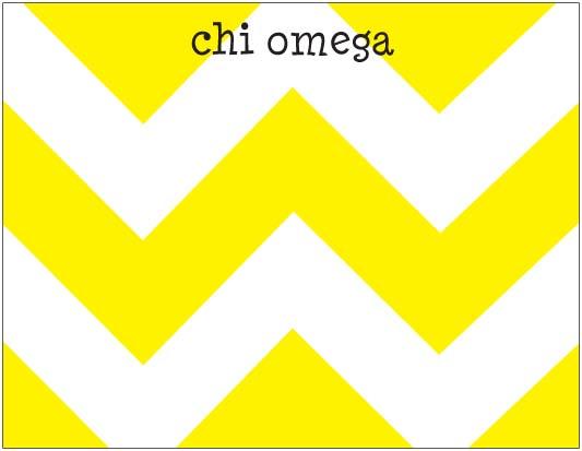 Chevron Dittie Notepad   Chi Omega 533x413