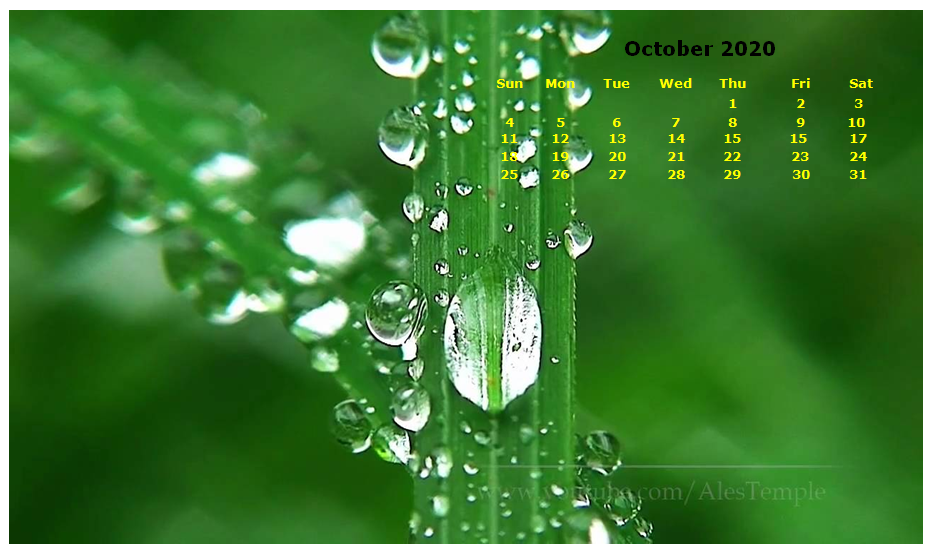 40 October 2020 Calendar Wallpapers On Wallpapersafari