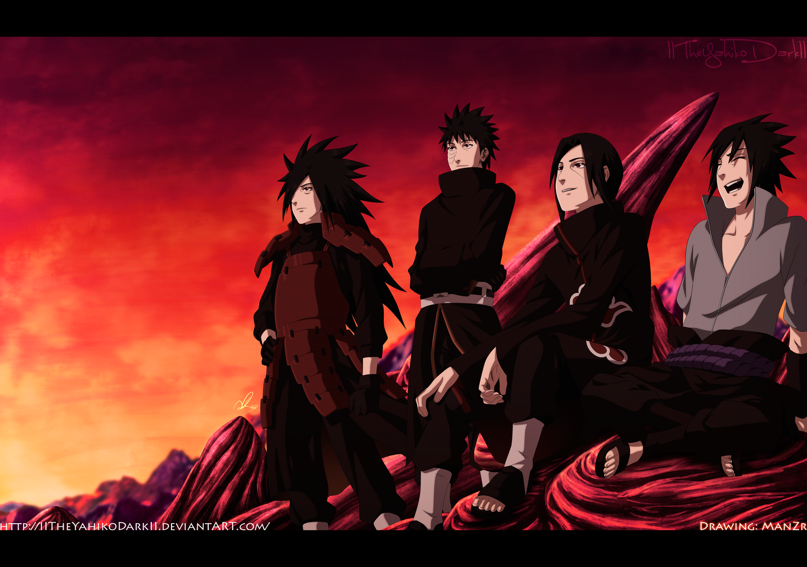 Uchiha Clan return Thanks for 100000 Pageviews by IITheYahikoDarkII 1600x1125