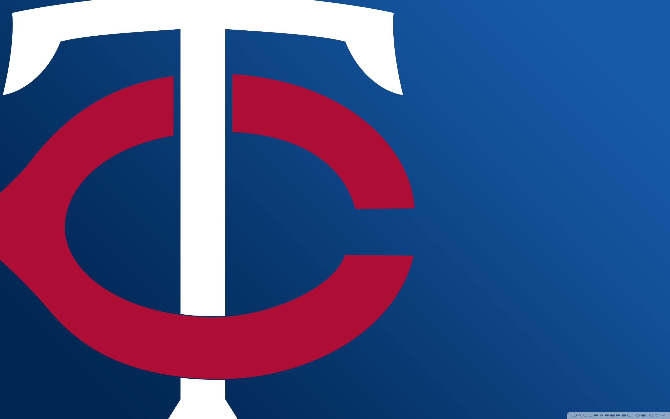 Minnesota Twins TC Logo 4K HD Desktop Wallpaper for 2560x1600