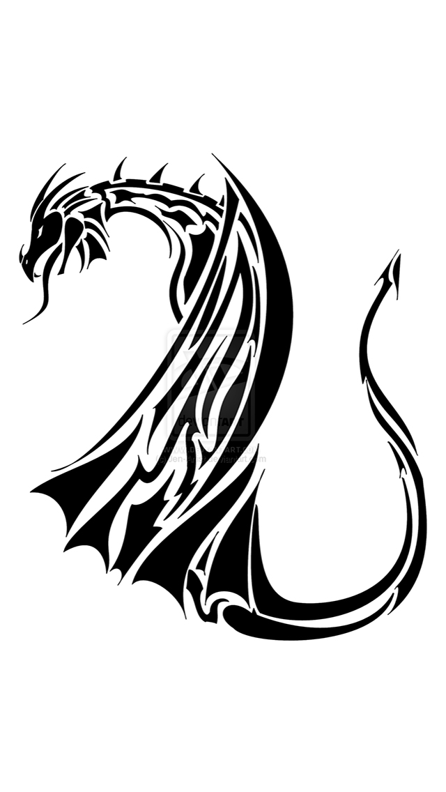 Dragon Tribal Tattoo iPhone 5 Wallpaper iPhone 5 Wallpapers Gallery 640x1136