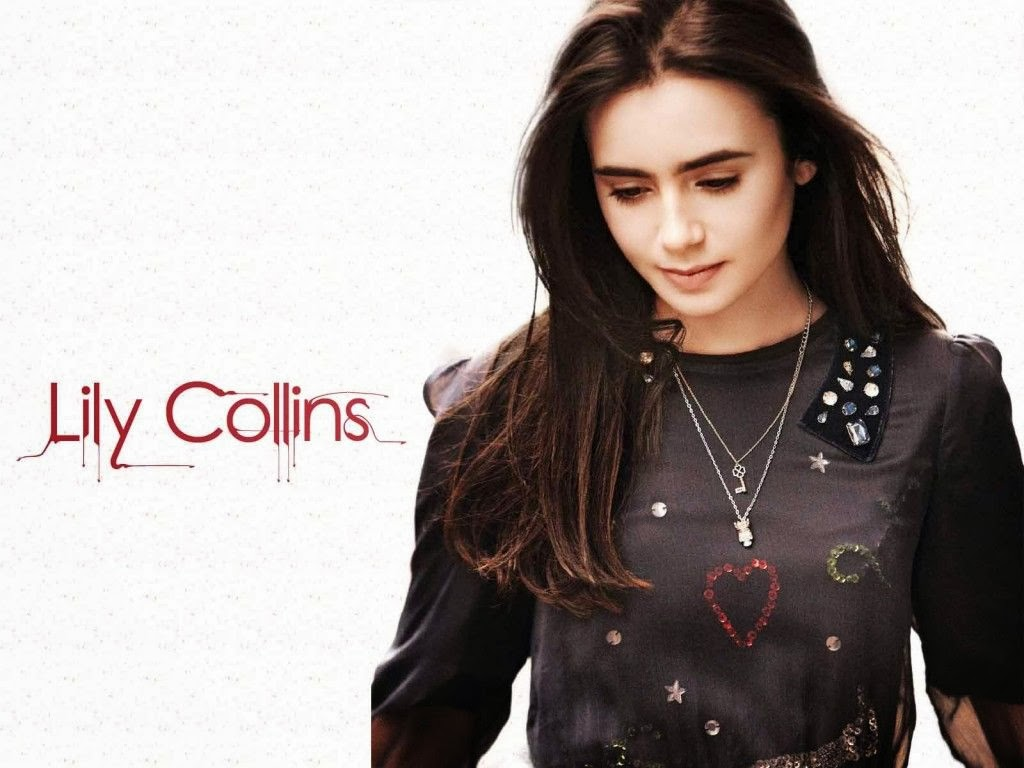 TOP STARS HD WALLPAPER FREE DOWNLOAD Lily Collins Top 1024x768