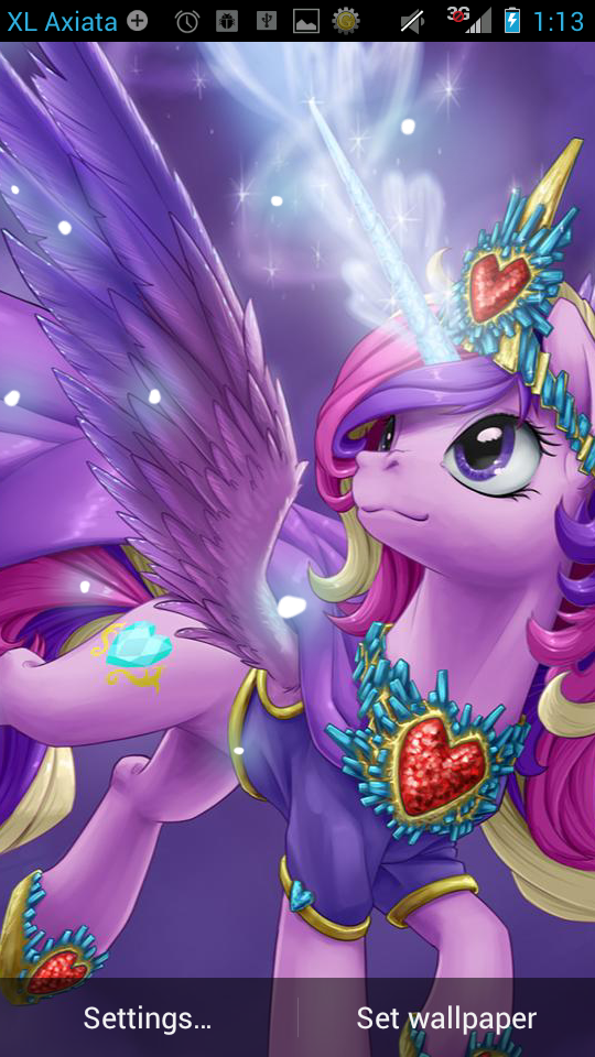 LWP Pony Princess Cadance FREE Anime Live Wallpaper Android Game 540x960