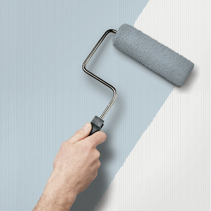 White Paintable Wallpaper Living room makeover Pinterest 736x736