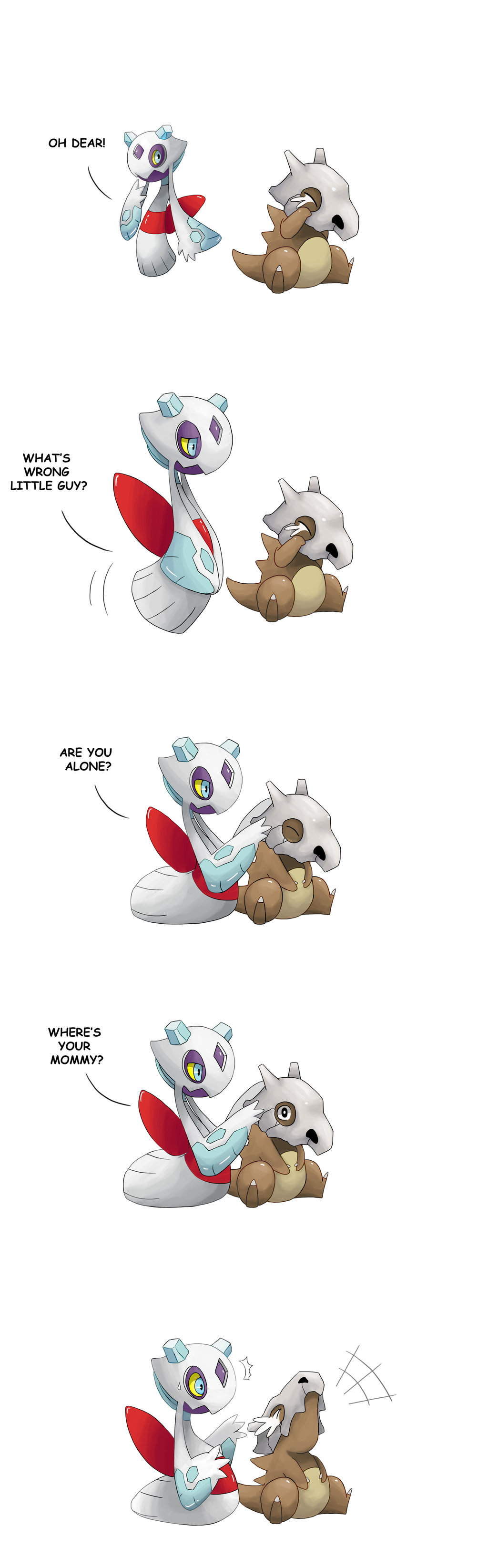 Pokemon Cubone Crying by SilentGPanda 1024x3288