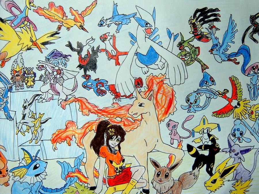 All legendary Pokemon by Shaymin1993 900x675