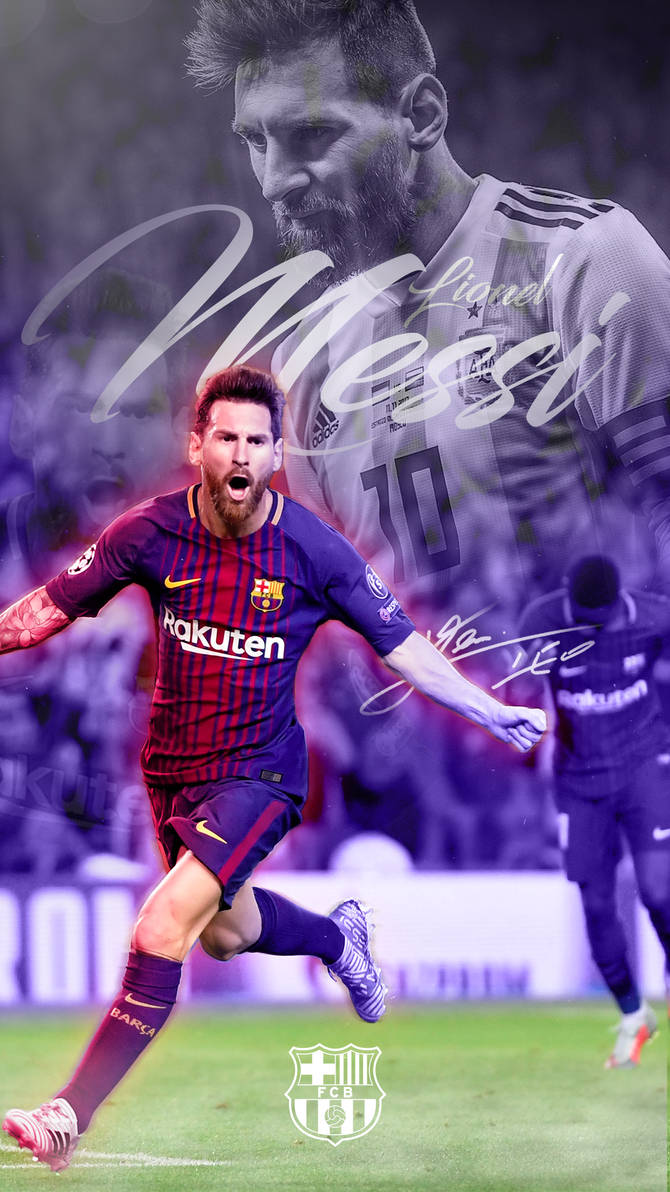 Lionel Messi Phone Wallpaper 20172018 by GraphicSamHD 670x1192