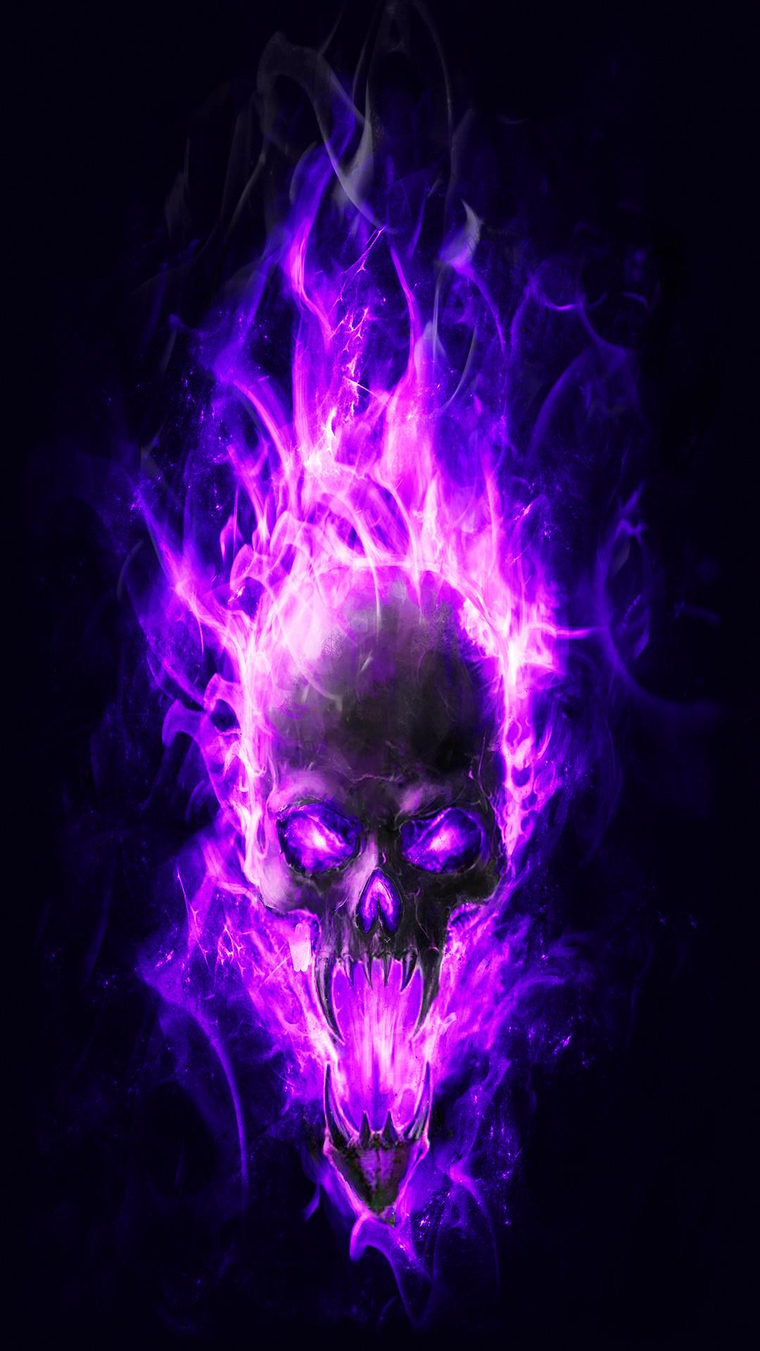 Free Download 55 Flaming Skulls Wallpapers On Wallpaperplay