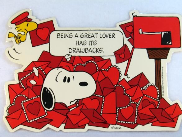Laminated Snoopy Valentines Day Wall Decor Snoopn4pnutscom 586x440