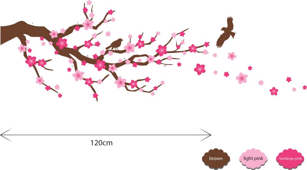 Cherry Blossom Wallpaper Border