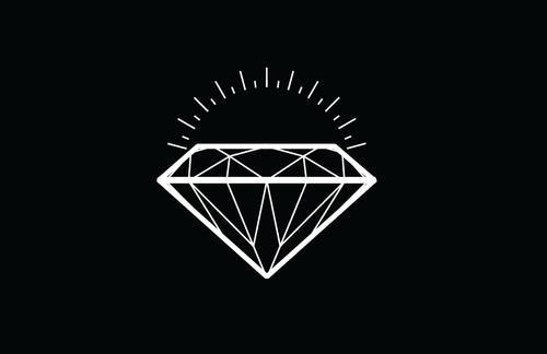 Free Download Diamond Tattoo Design On Black Background Tattoobitecom 500x324 For Your Desktop Mobile Tablet Explore 41 Black And White Diamond Wallpaper Black And White Wallpaper Wallpaper White On