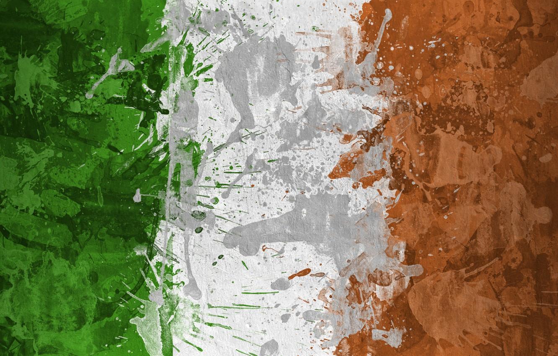 Wallpaper paint flag Ireland flag Ireland The Republic Of 1332x850