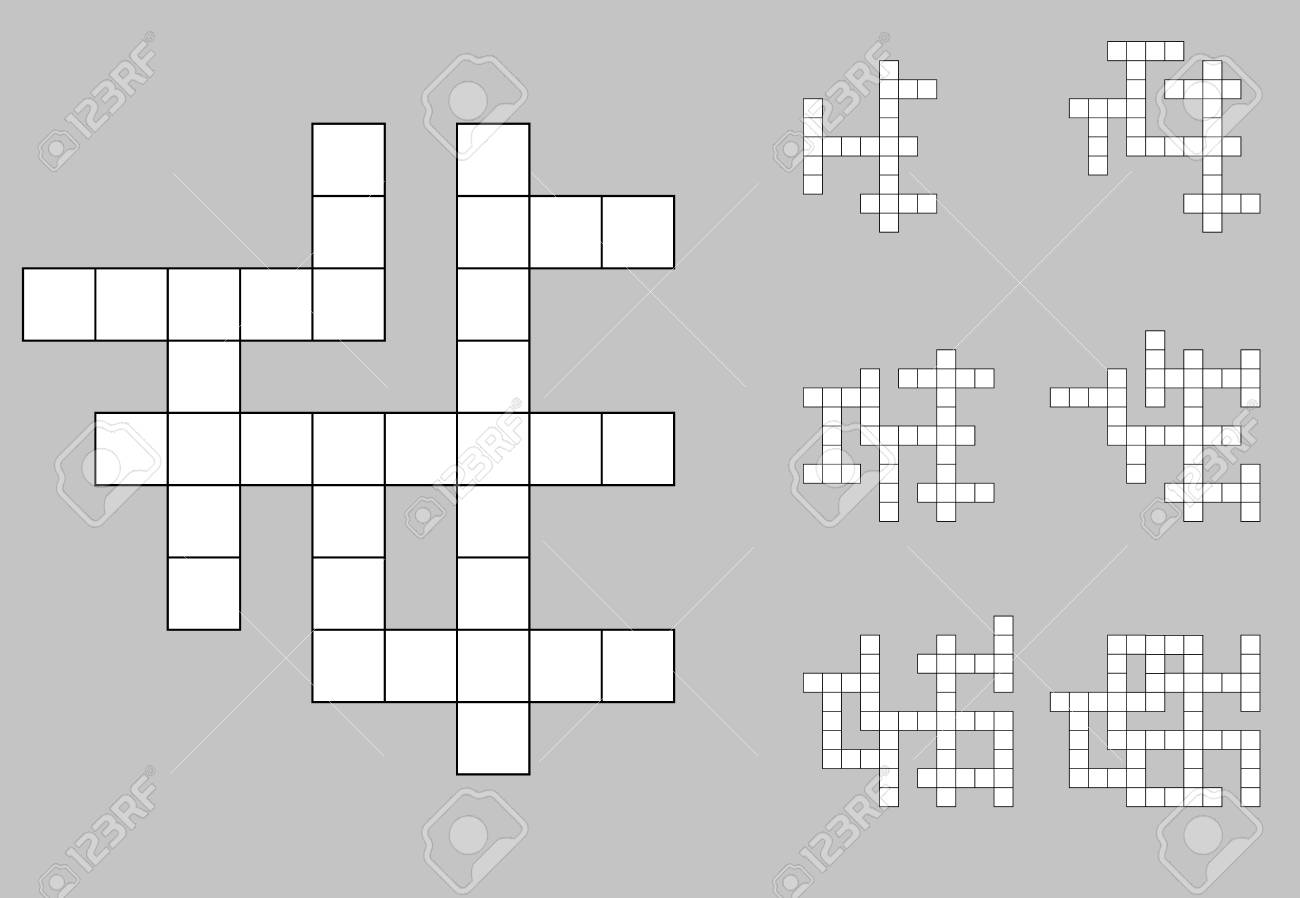 Crossword Empty Set Background Vector Royalty Cliparts 1300x898