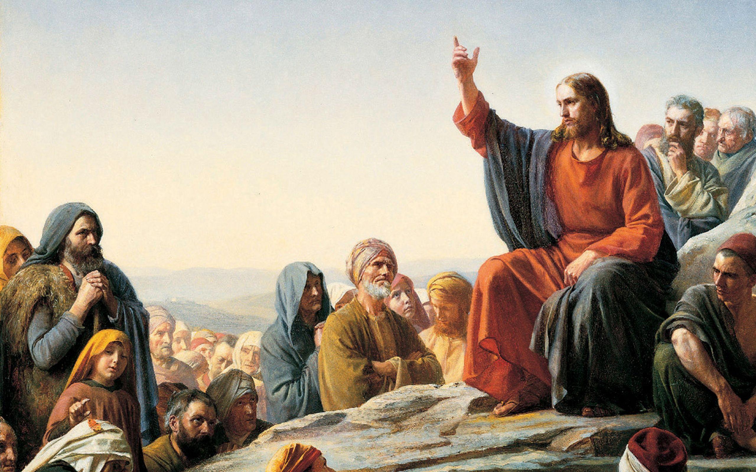 Jesus Christ Wallpaper Jesus Teaching Multitude Wallpaper 2560x1600