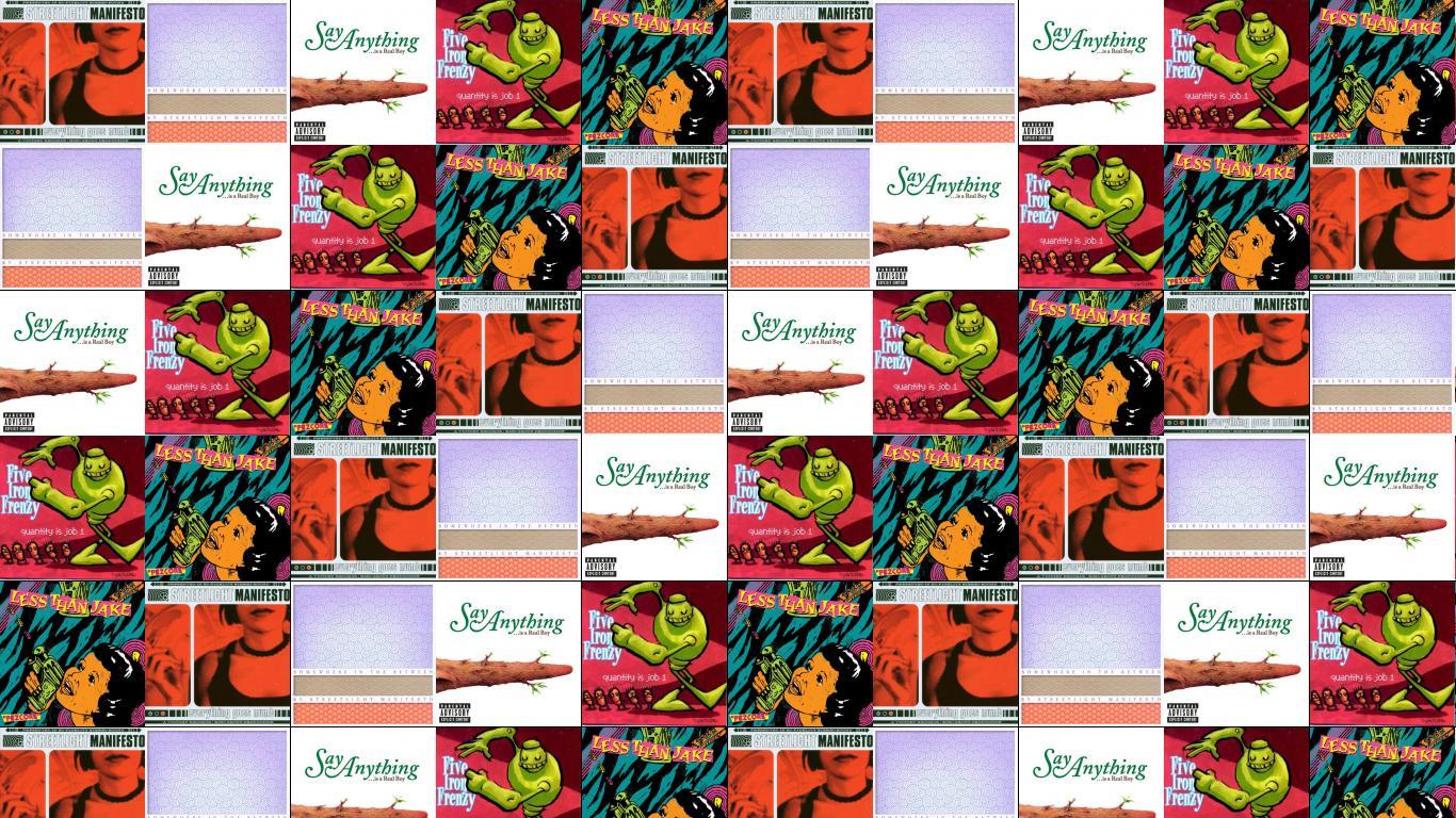 five iron frenzy Tiled Desktop Wallpaper 1366x768