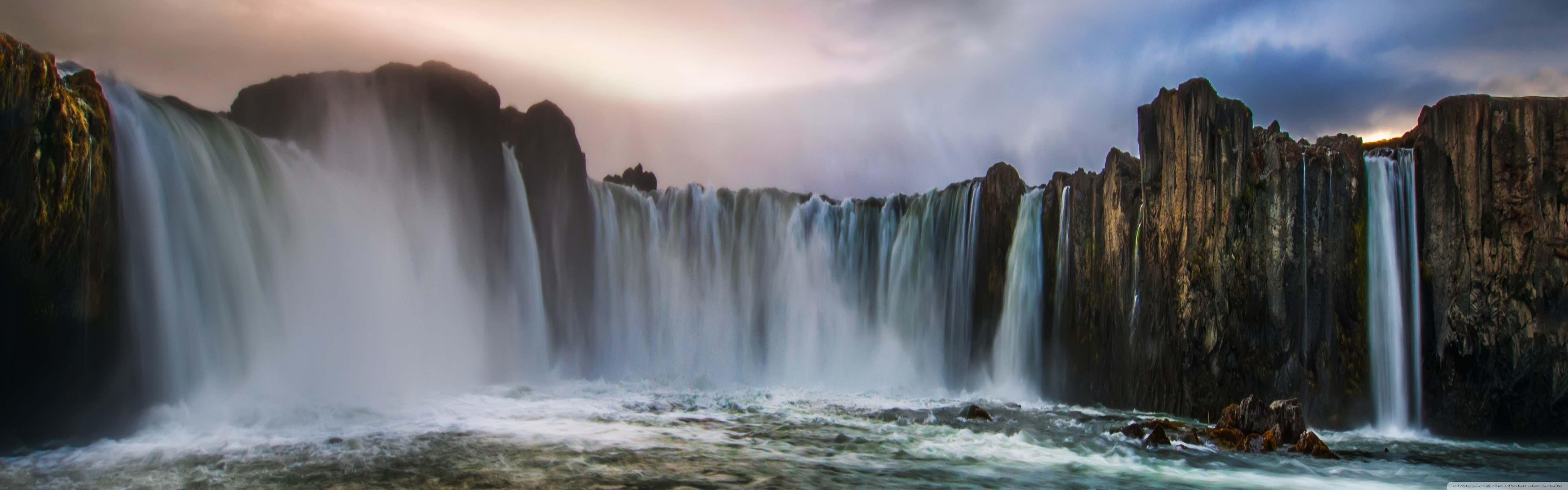 Waterfall In Iceland 4K HD Desktop Wallpaper for 4K Ultra HD TV 5120x1600