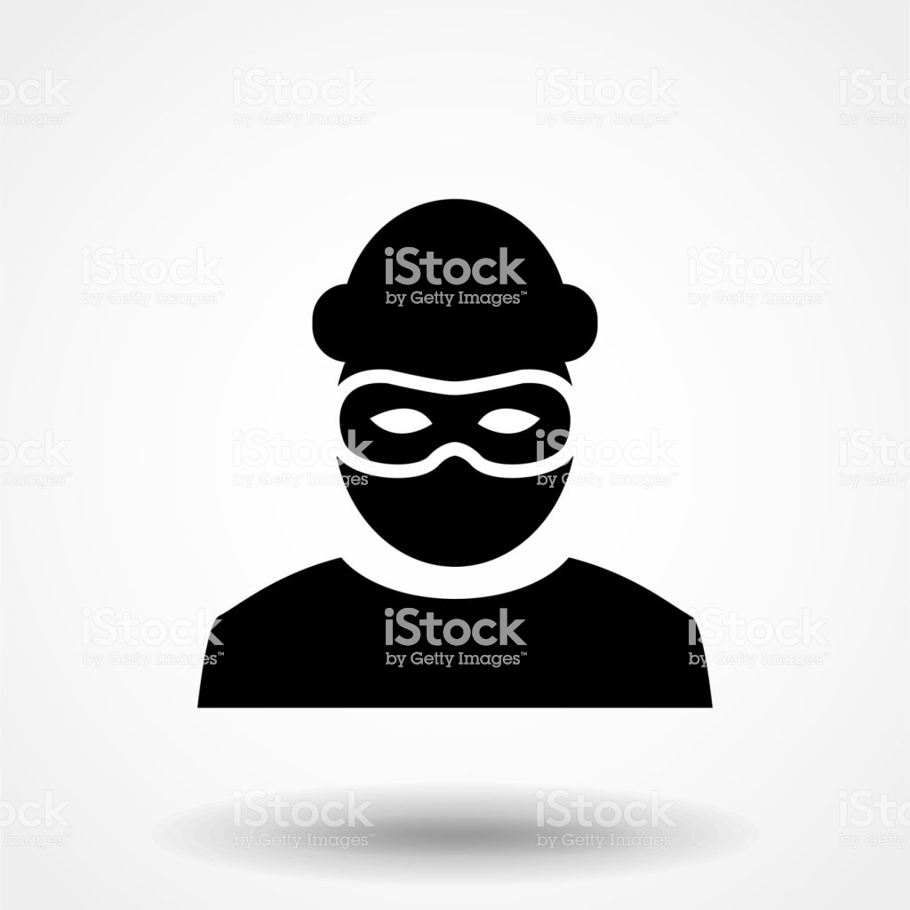 Robber Icon Bandit Symbol Isolated On White Background Vector 1024x1024