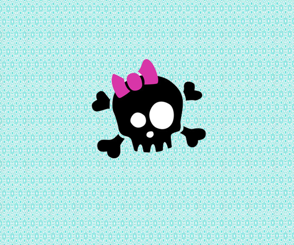 Girly Skull Wallpaper   Android Forums at AndroidCentralcom 960x800