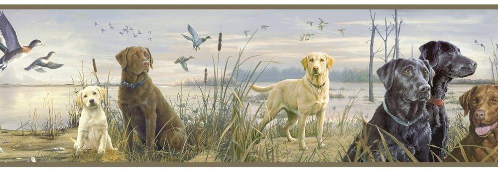Trusty Labs Wallpaper Border Hautman Brothers Labradors Hunting eBay 1000x345