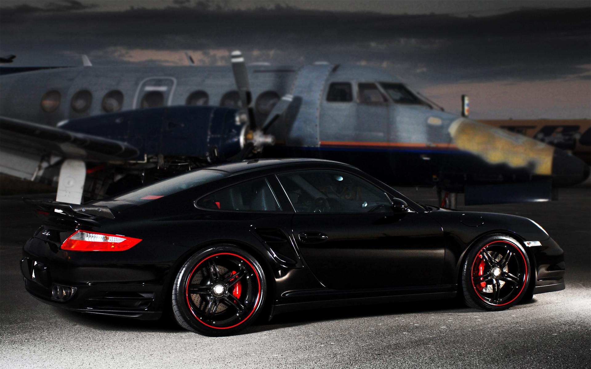 Porsche 911 Turbo Black Super Cars HD Wallpapers 1920x1200