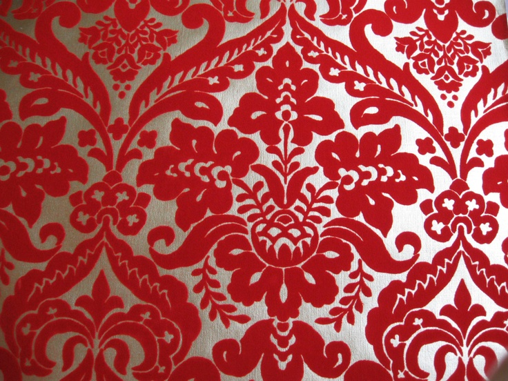 Gold And Red Backgrounds: Metallic Flocked Wallpaper