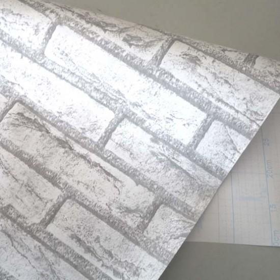 18 Vintage Grey Brick Peel Stick Wallpaper   Self Adhesive Wall Paper 550x550