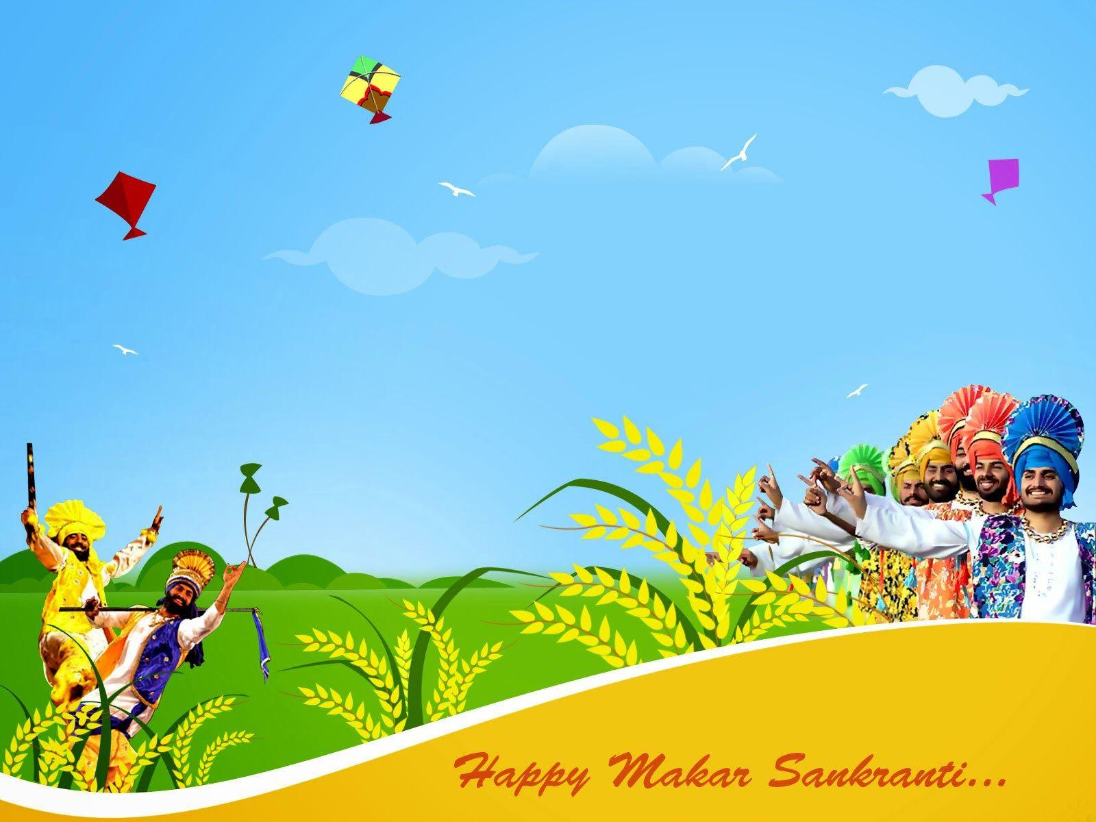 Makar Sankranti Wishes Picture Wallpaper in 2020 Happy lohri 1600x1200