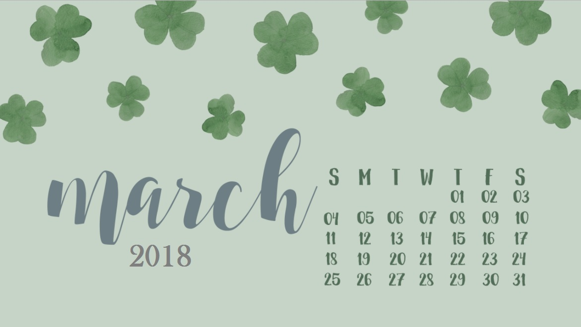 March 2018 HD Calendar Wallpaper Max Calendars 1171x660