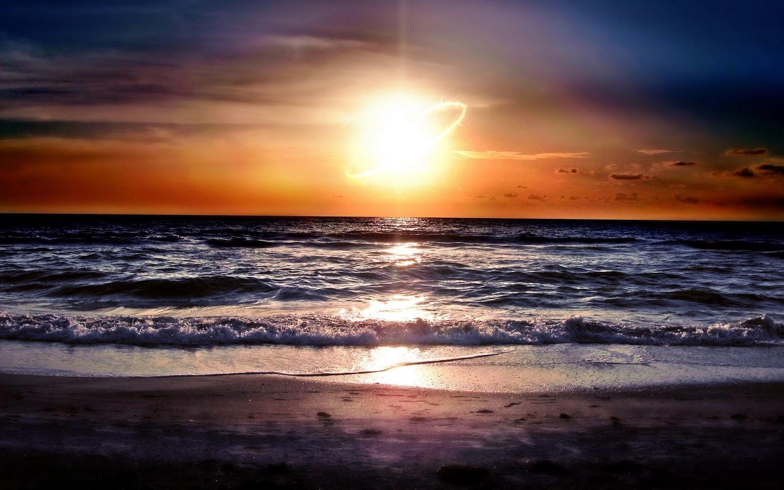 Beautiful Wallpapers beach sunset wallpaper 1600x1000