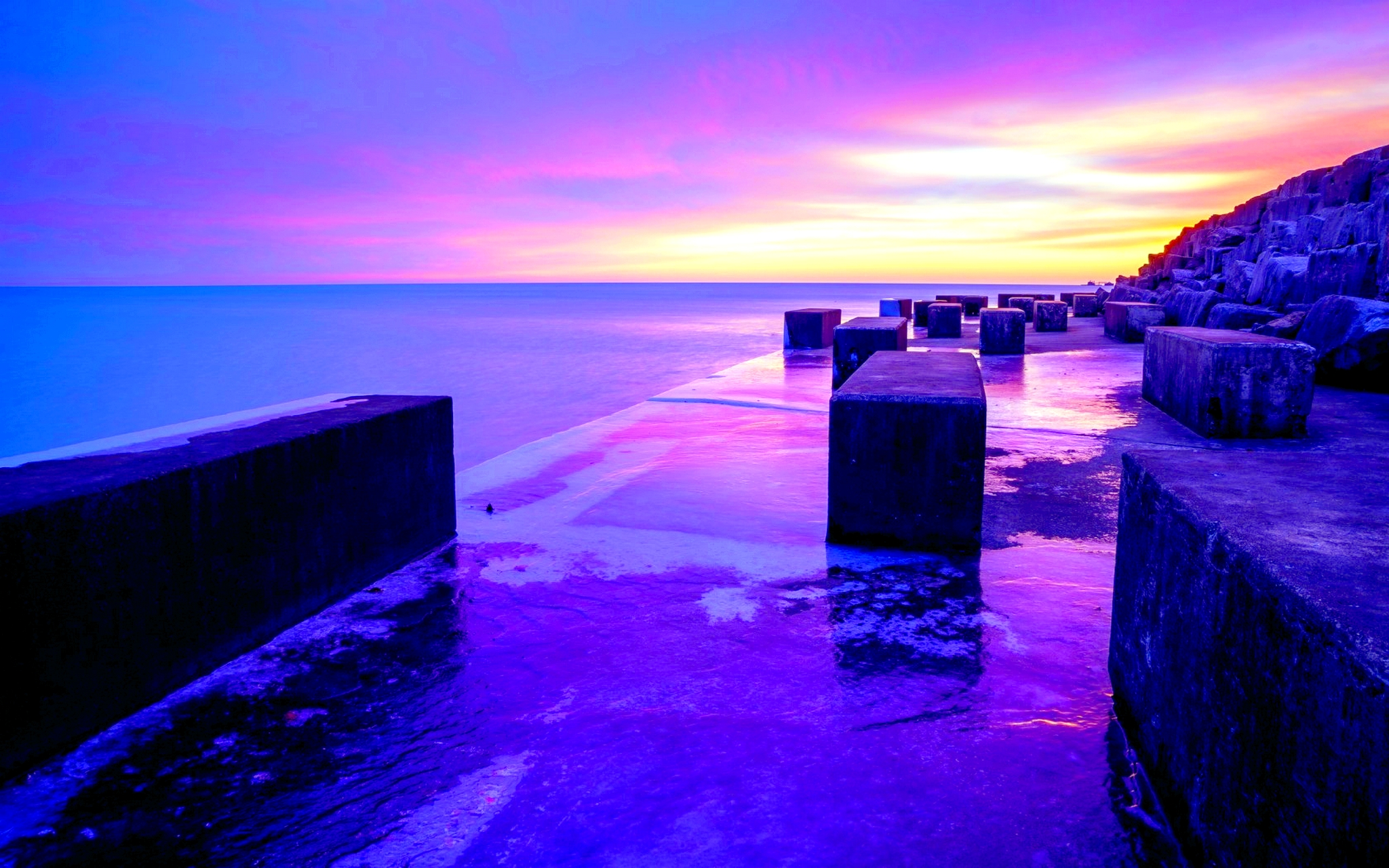 Purple Sunset Wallpaper 23192 2048x1280 px ~ HDWallSource.com