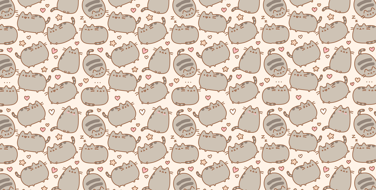 Pusheen The Cat Background Background 1600x808