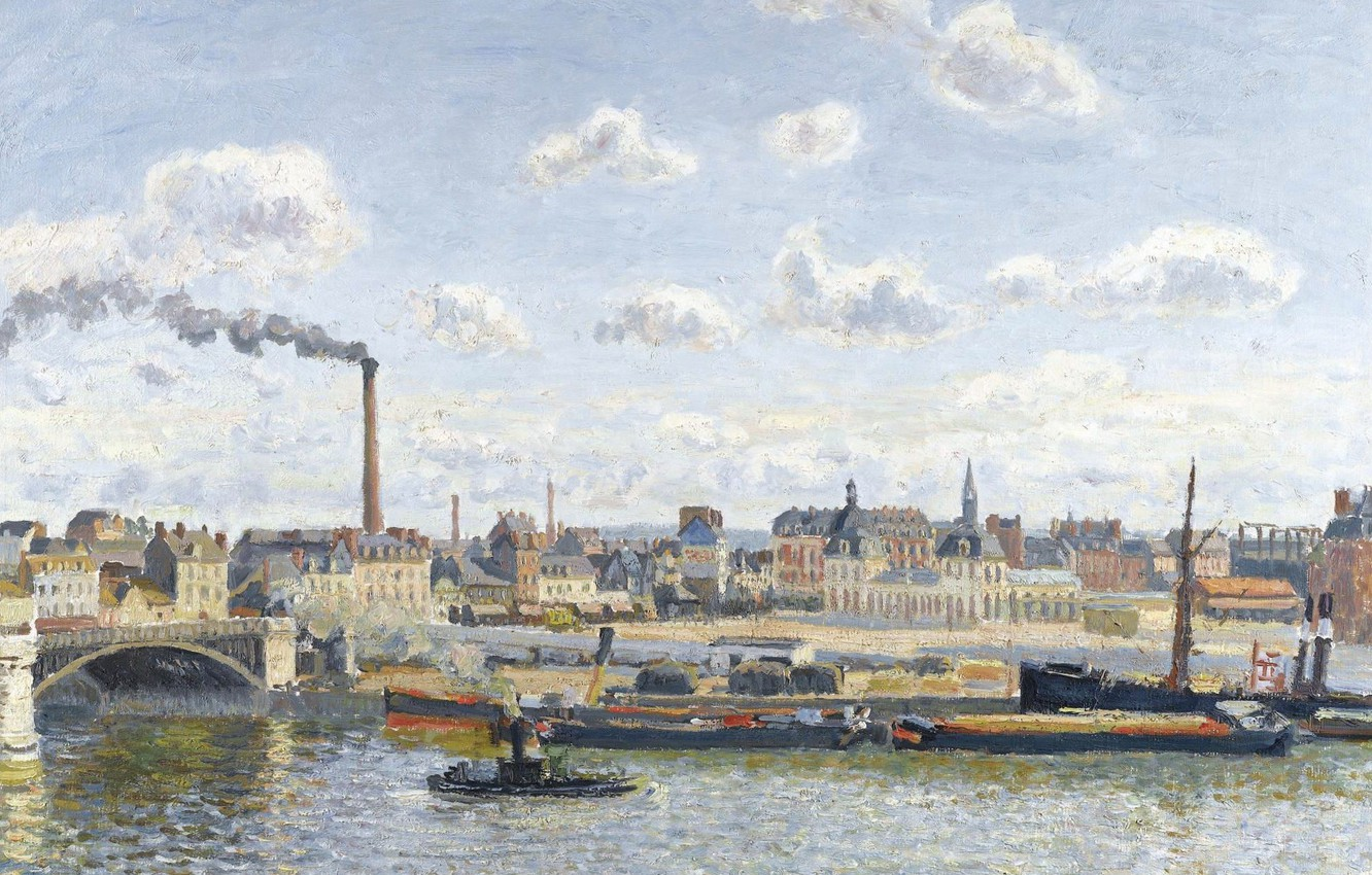 Wallpaper picture the urban landscape Camille Pissarro The 1332x850
