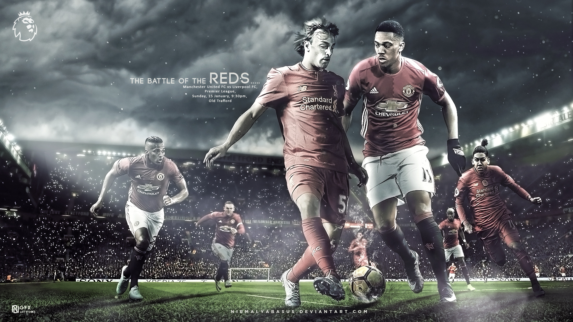 Manchester United vs Liverpool Matchday Wallpaper by 1920x1080